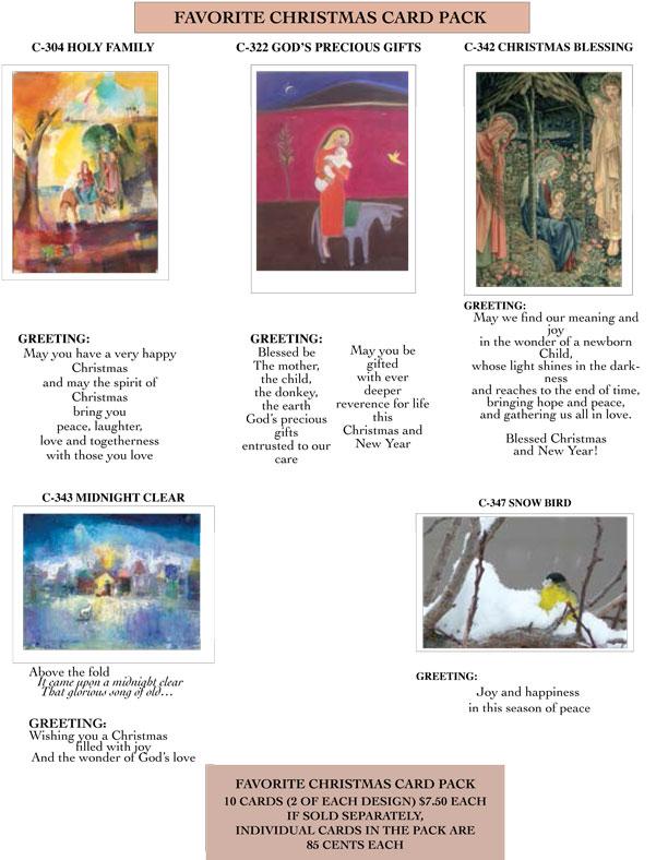 FAVORITE CHRISTMAS CARD PACK 2014