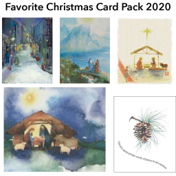 Pk-001 Favorite Christmas Card Pack 2020